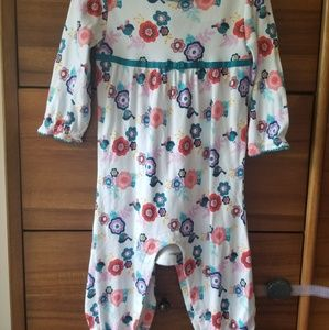 Gymboree Floral Print Long Sleeve Jumpsuit
